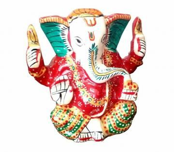 This beautiful statue depicts Lord Ganesha in a blessing pose and is made of metal. This looks really lovely in multicolor and is one of 1st Home's most exclusive decor items for contemporary homes.