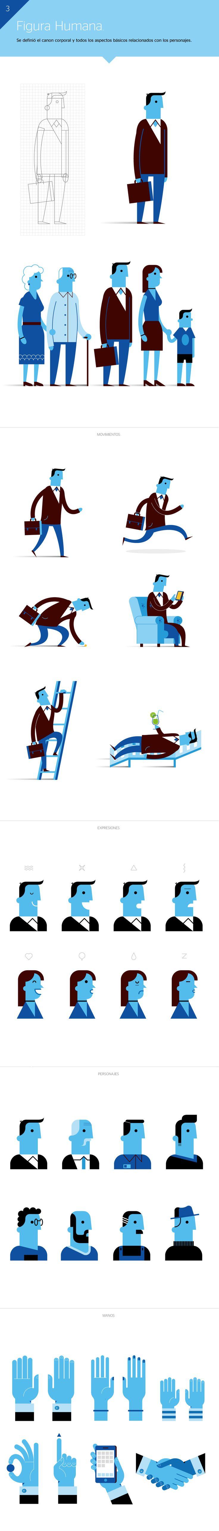 BBVA Ilustración Corporativa. 7 #illustration #character