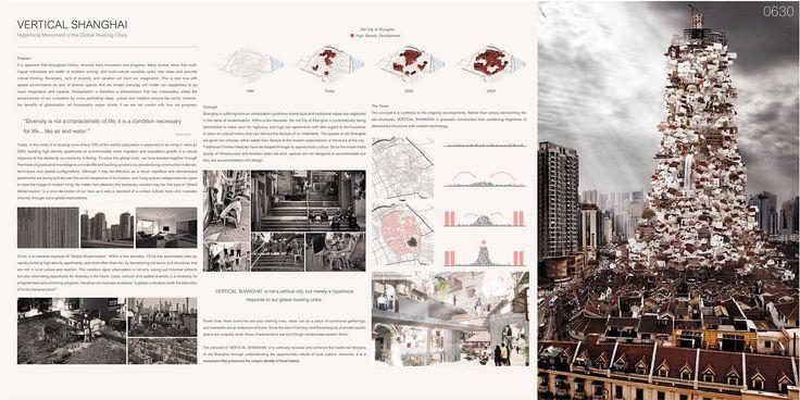 "eVolo 2016 Honorable Mention  Project by: Yuta Sano, Eric Nakajima  AUSTRALIA ""Vertical Shanghai: Hyperlocal Monument Of The Global Housing Crisis"""