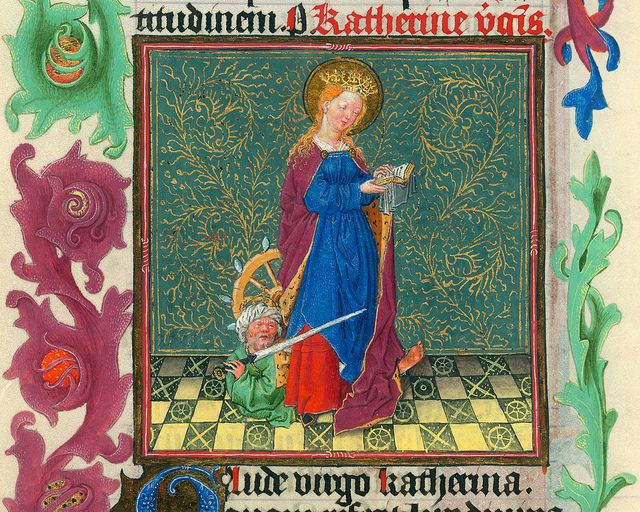Catherine - NYC Pierpont Morgan Library - Hours of Catharina of Cleves MS M917 pp296-297