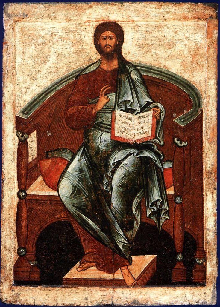 Тверская икона Спас на престоле. 16 век