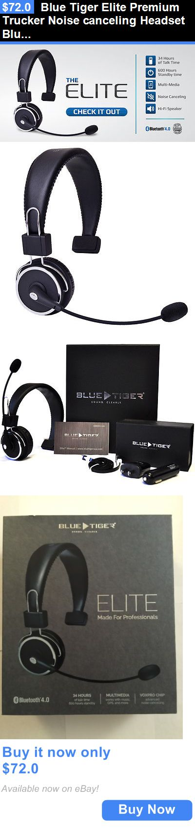 Headsets and Earpieces: Blue Tiger Elite Premium Trucker Noise Canceling Headset Bluetooth New BUY IT NOW ONLY: $72.0