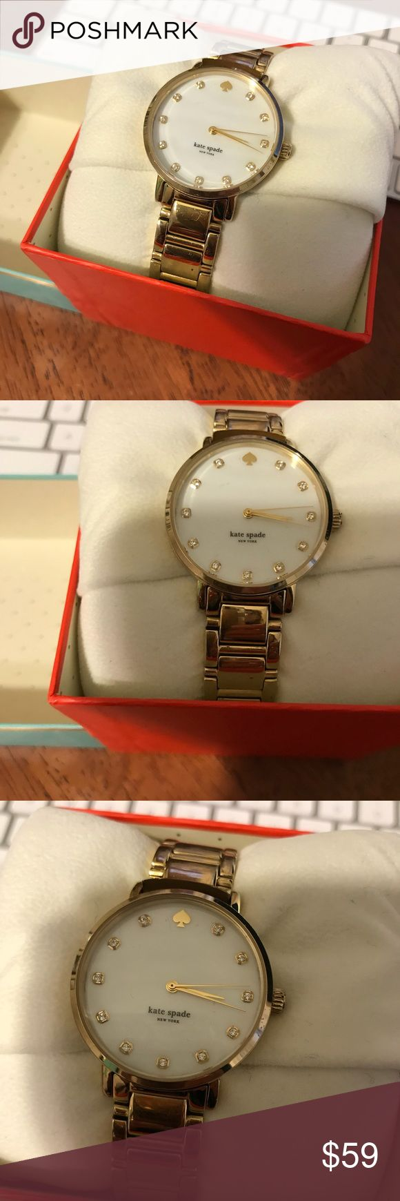 Kate Spade gramercy watch gold Pre owned good condition Kate Spade gramercy watch in gold kate spade Accessories Watches