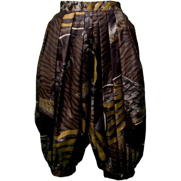 1960s Small Culottes Skirt Harem MC Hammer Parachute Pants Skort Tat... (£64) ❤ liked on Polyvore featuring golf skirts and pleated skort