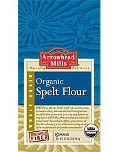Spelt Flour. NOT from the wheat family...tastes nuttier and has more protein than reg. flour, for baking breads and cakes...