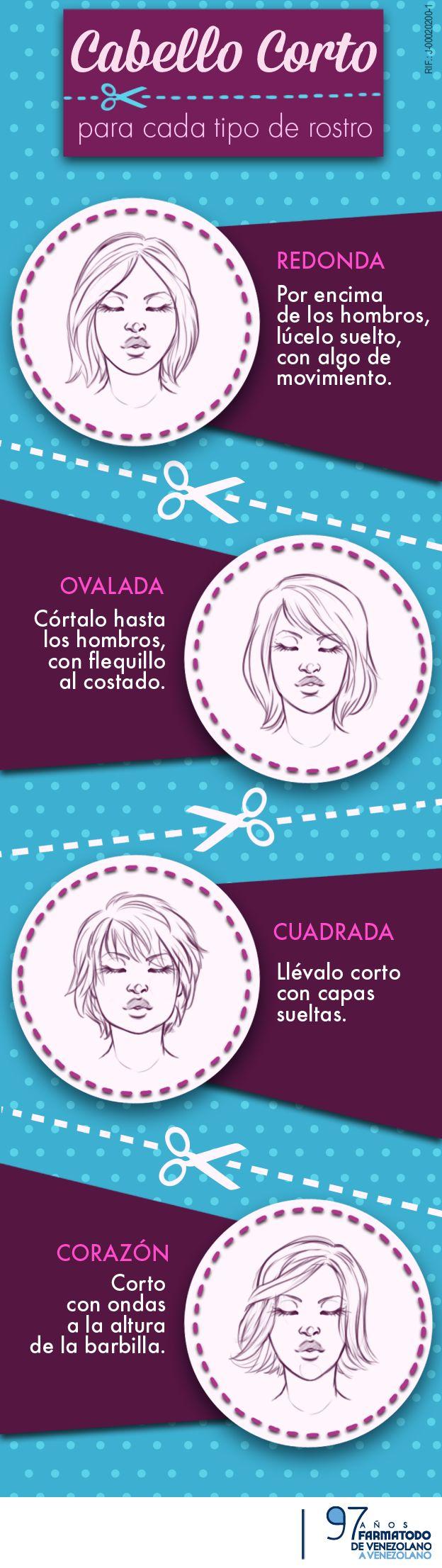 No importa que tu cara sea redonda, ovalada, cuadrada o en corazón. Toma en cuenta estos tips y luce el cabello corto con mucho estilo