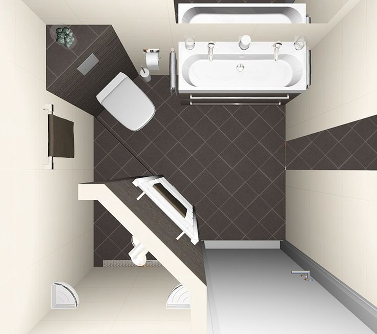 Badkamer Ideeen Voor Kleine Ruimte: Voor grote wandtegels je kleine ...