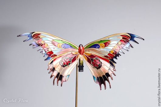 Fabulous Stained Glass Butterfly Unusual jewelery for hair Butterfly in the style of Tiffany