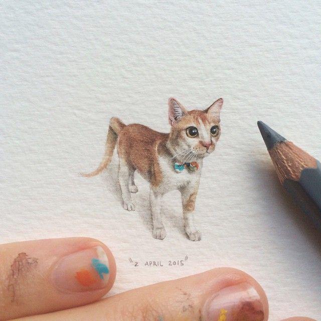 Acest artist a realizat cate un desen miniatural in fiecare zi timp de 100 de zile