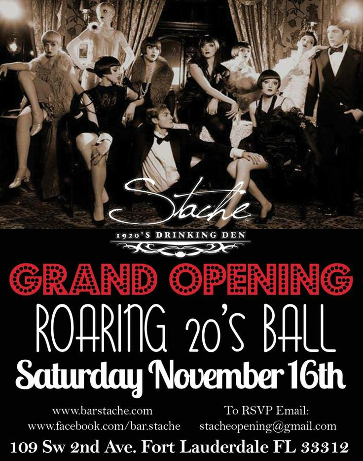 The infamous Grand opening flyer #stache #drinking den - grand opening flyer