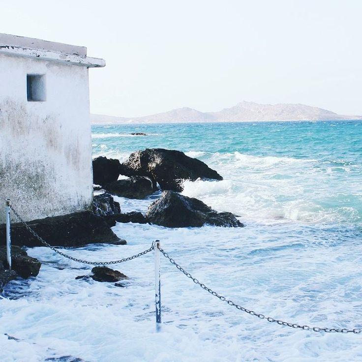 Ecstatic beauty of Naoussa town in Paros: sea, wind, salt, rocks..