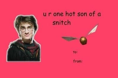 For the Qudditch lover:   Community Post: The 18 Best Valentine's Day Cards For The Harry Potter Addict In Your Life