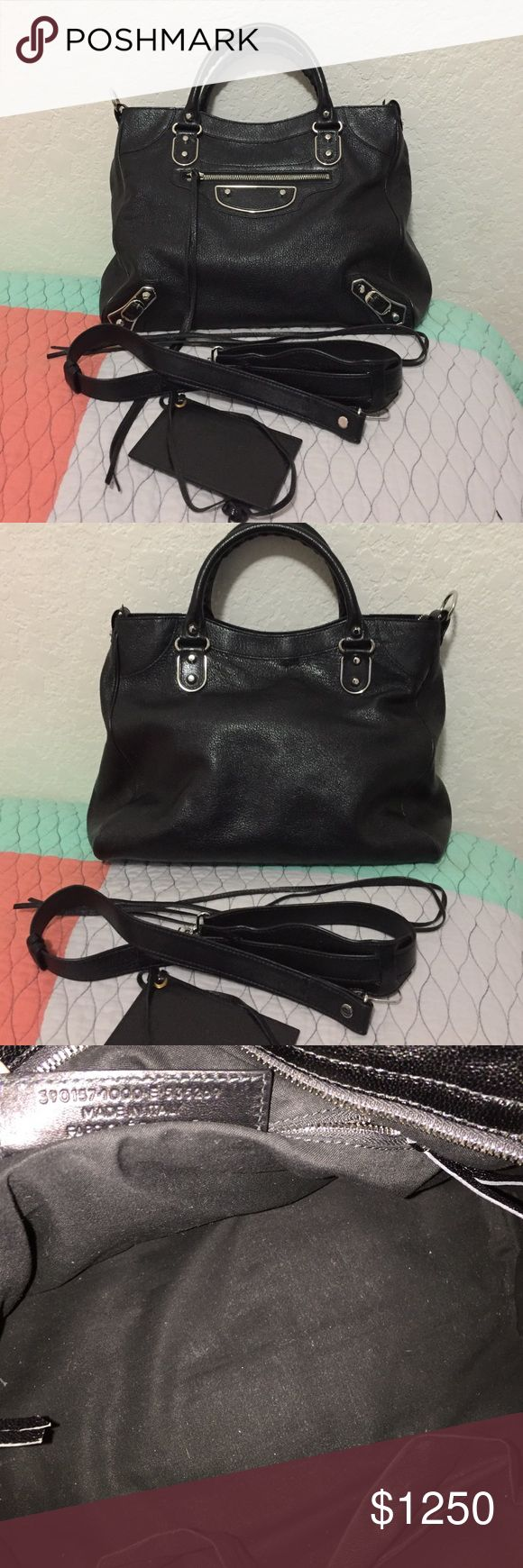 Balenciaga Metallic Edge Classic Velo 💯 Authentic, gently used bag. With silver hardware. Minor scratches on the hardware. No cracks or tears. Interior has some dusts. Comes with strap, mirror, and 2 extra tassels. No dust bag or box. Balenciaga Bags Satchels