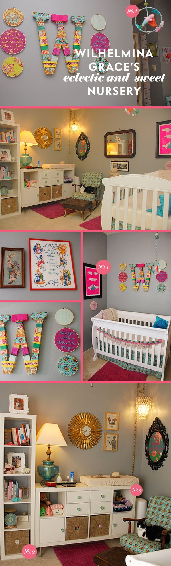 lots of things in this eye candy nursery room will grow with your child. very eclectic and sweet design.