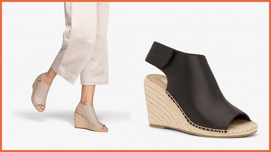 We absolutely adore this stunning vegan Acacia Wedge in Blackfrom the Flair Casual Collection.
