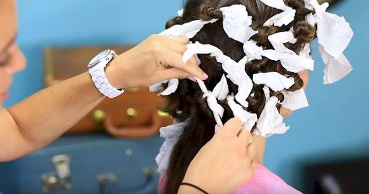 How To Create Perfect Curls With Paper Towel!