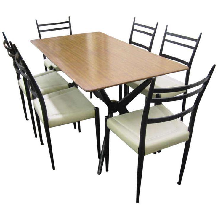 Italian Gio Ponti Style Jax Base Dining