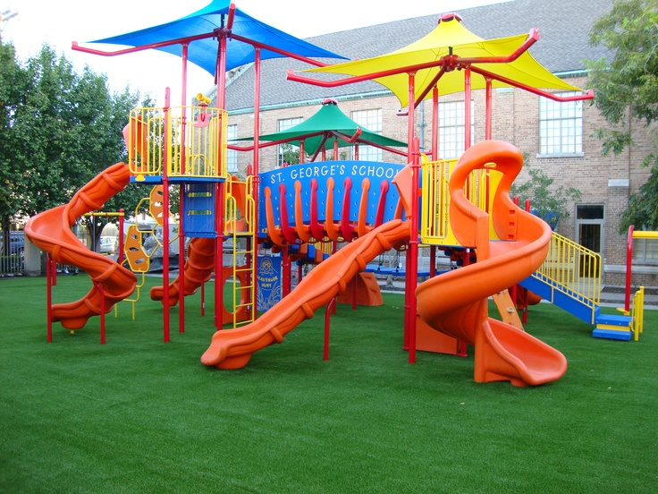 artificial grass - under play area - under shade sail