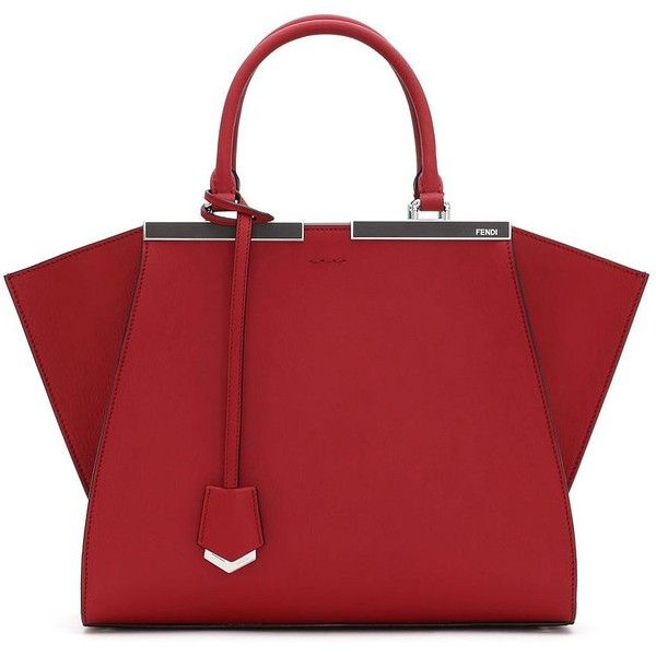 Fendi 3Jours Petite Satchel ($2,780) ❤ liked on Polyvore featuring bags, handbags, purses, bolsos, bolsas, apparel & accessories, leather handbags, red satchel handbags, leather man bag and red leather handbag