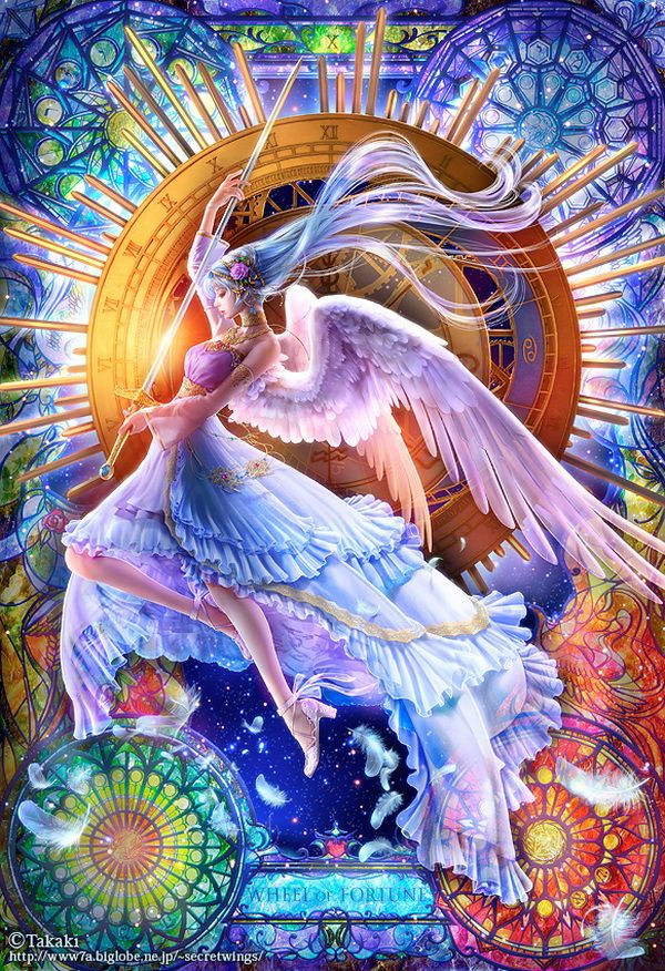Brilliance!  Light!  This is our Destiny when we open to the Divine and Angels with our Hearts!  {{Beautiful Art by Takaki ♥♥}}