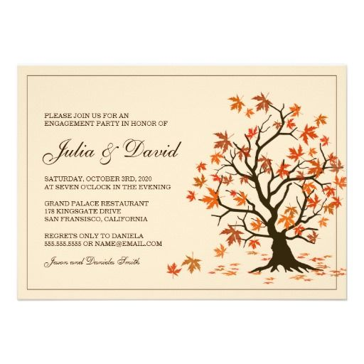 Fall Engagement Party Invitation