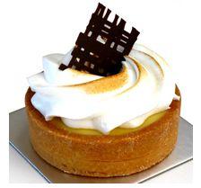 Lemon Tart - French Style lemon tart made with real lemon juice and soft Italian meringue. www.cassis.co.za