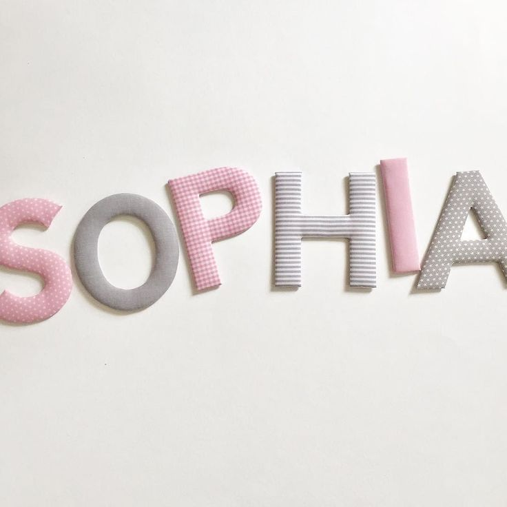 Eure Beliebteste Farbkombination Für Mädchen: Hellrosa/grau #norabellahome  #stoffbuchstaben #buchstaben #