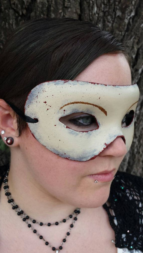 Bloody Skin Face Paper Mache Mask by EquinoxMasquerade on Etsy