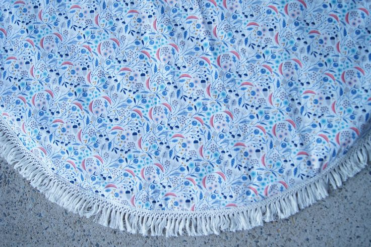 "Medium Round Padded Baby Play Mat / Tummy Time Mat - ""Organic Flair"" by StyledbyOliviaGrace on Etsy"