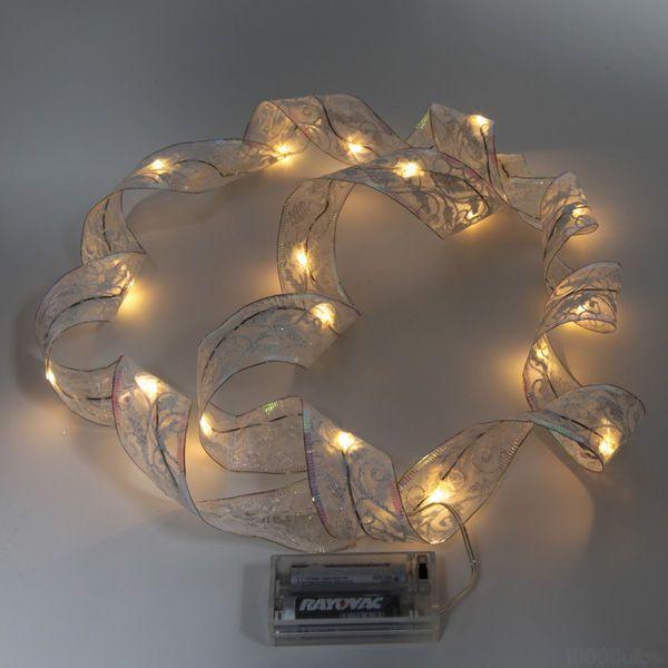 Ribbon Christmas Lights