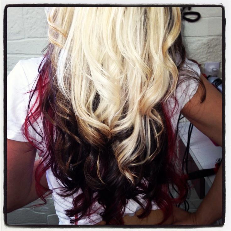 Tri Color Paneling  Hair By Jehnyfer  Salon 8  Hair Amp Beauty  Pinterest