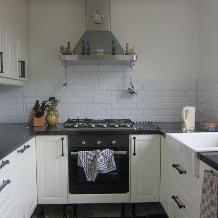Blauwe Keuken Ikea : Kleine U keuken Keuken Pinterest