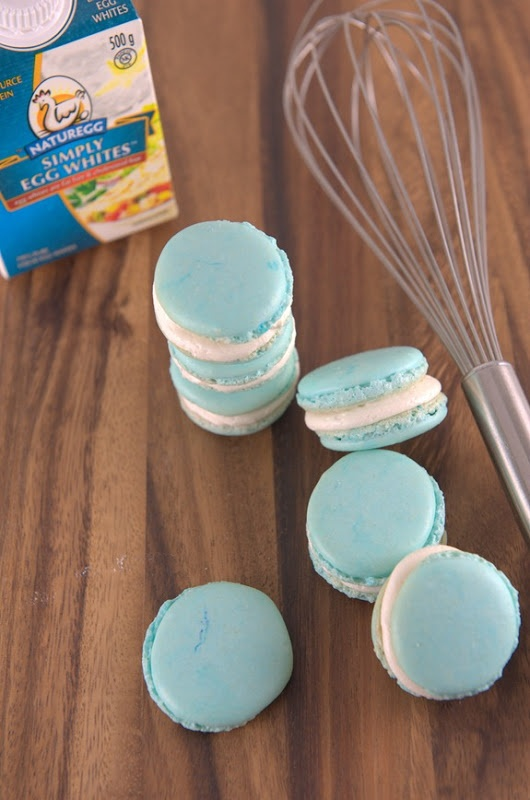 Pasteurized egg macarons