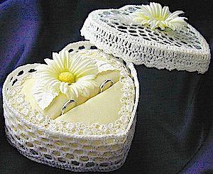 ateliersarah's ring pillow using a lace basket