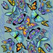 Butterfly Waterfall - Spoonflower