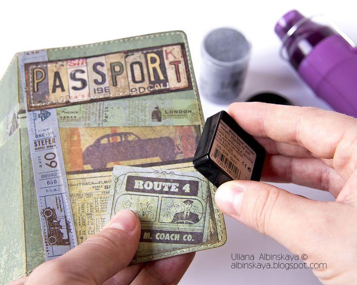 """Подарки для мужчин"" - мой мастер-класс ""Обложка на паспорт"" / School scrapbooking - gifts for men. Lesson 5."