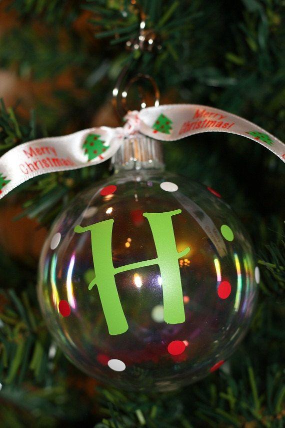 Glass Christmas Ornament with Polka Dots,