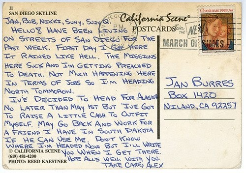 Postcard From Christopher McCandless Aka Alexander