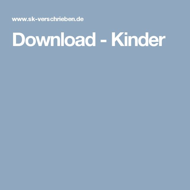 Download - Kinder