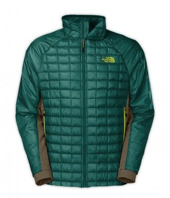 Jaqueta The North Face Men's Thermoball Hybrid Jacket Balsam Blue Scallion Green Heather #Jaqueta #The North Face