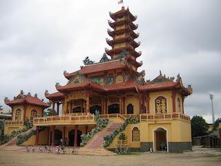 Buddhist temple at Qui Nhon, Vietnam.