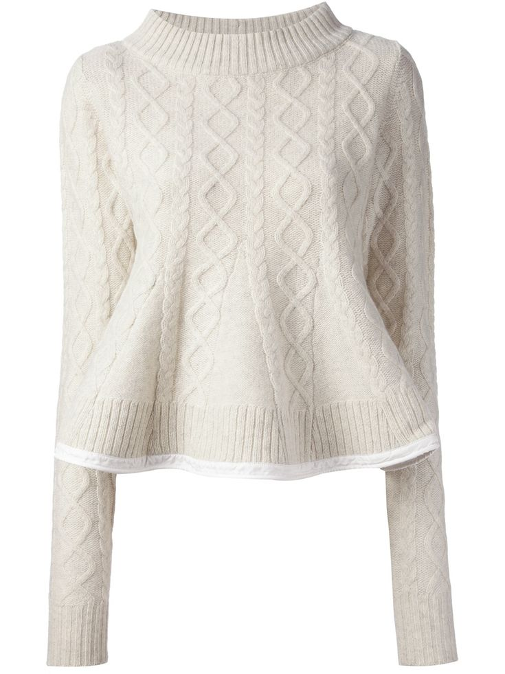 Sacai Luck Cable Knit Sweater-knitspiraton