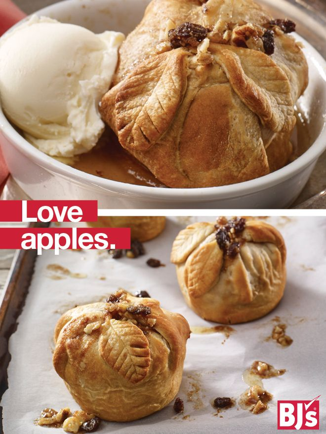 Romantic Dessert for Two - Bourbon sauce makes this easy apple dumpling recipe almost sinfully delicious. http://stocked.bjs.com/food/love-apples
