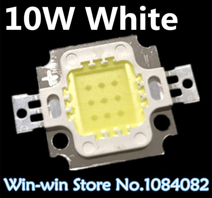 10pcs  10W LED Integrated High power LED Beads 10W White 600mA 12.0V 800 1000LM…