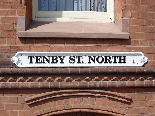 An old street sign in the Jewellery Quarter Hockley Birmingham U K
