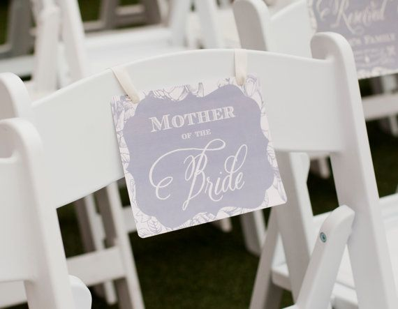 Reserved Seating: Mother Of The Bride, Printable, Wedding Seating, Reserved, MOB, Reserved Family Seating, Choose Colors