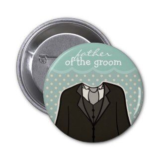 Father of the Groom // BLUE Button