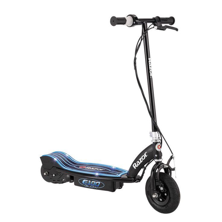 Electric Scooters For Kids Razor E100 Glow Black Chain Driven Motor NEW #Razor