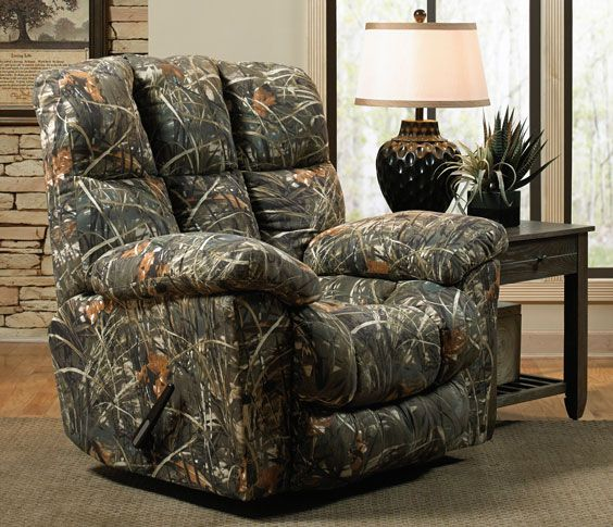 Tufted Sofa Duck Dynasty Chimney Rock Chaise Recliner in Realtree Max camo