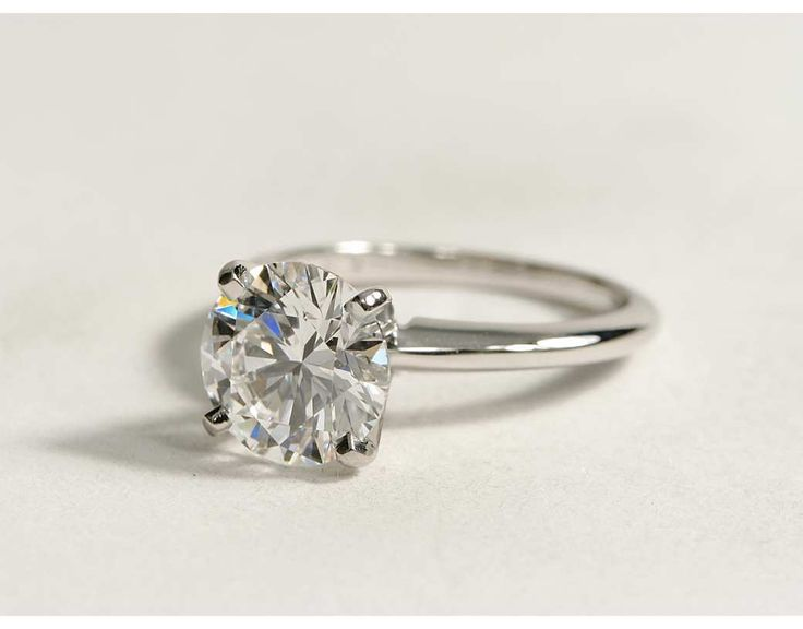 2.01 Carat Diamond Classic Four Prong Solitaire Engagement Ring   Recently Purchased   Blue Nile